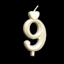 Arany számgyertya - 9