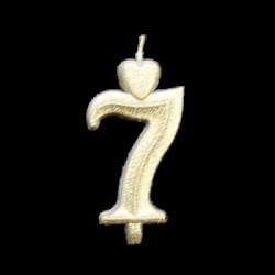 Arany számgyertya - 7